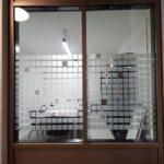 adhésifs, décoration, décors, séparation bureau, cristal, lettres découpées, frosted, intimité, opacité, films dépolis, protection, séparation open space